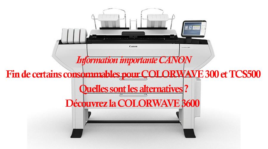 Canon met fin aux COMBIPACKS CW300 XL et TCS500 – Comment faire ?